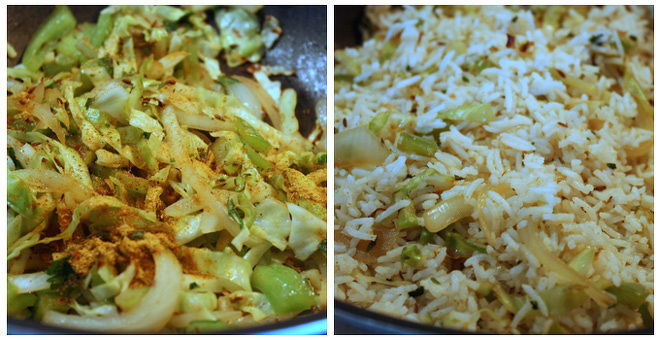 Cabbage-Capsicum-Pulao-Recipe-Step-3