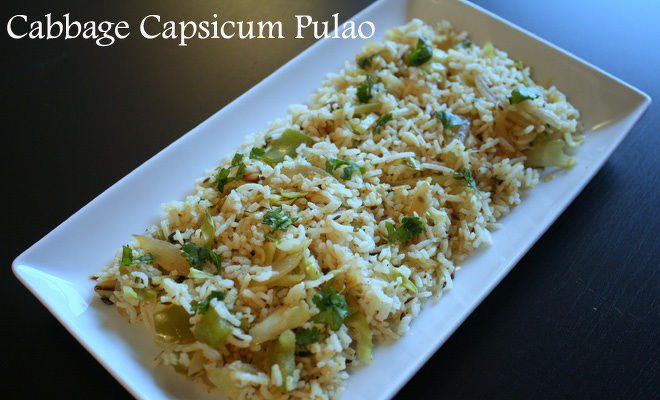 Cabbage-Capsicum-Pulao-Recipe