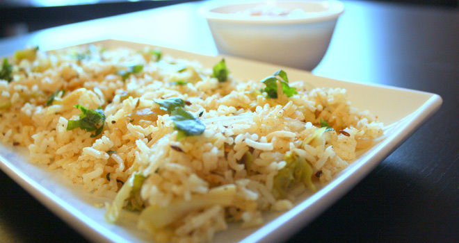 Cabbage-Capsicum-Pulao-Rice-Recipe