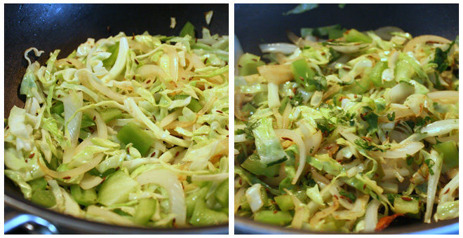 Cabbage-Capsicum-Pulao-Step-2