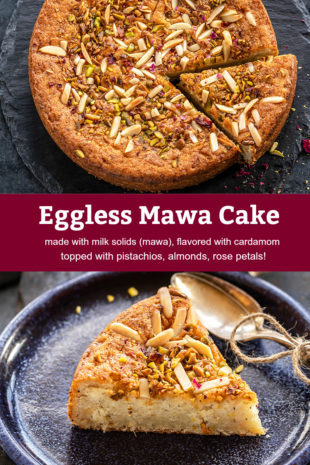 pinterest graphic for mawa cake
