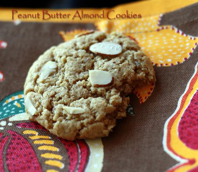 Peanut-Butter-Almond-Cookies-Recipe