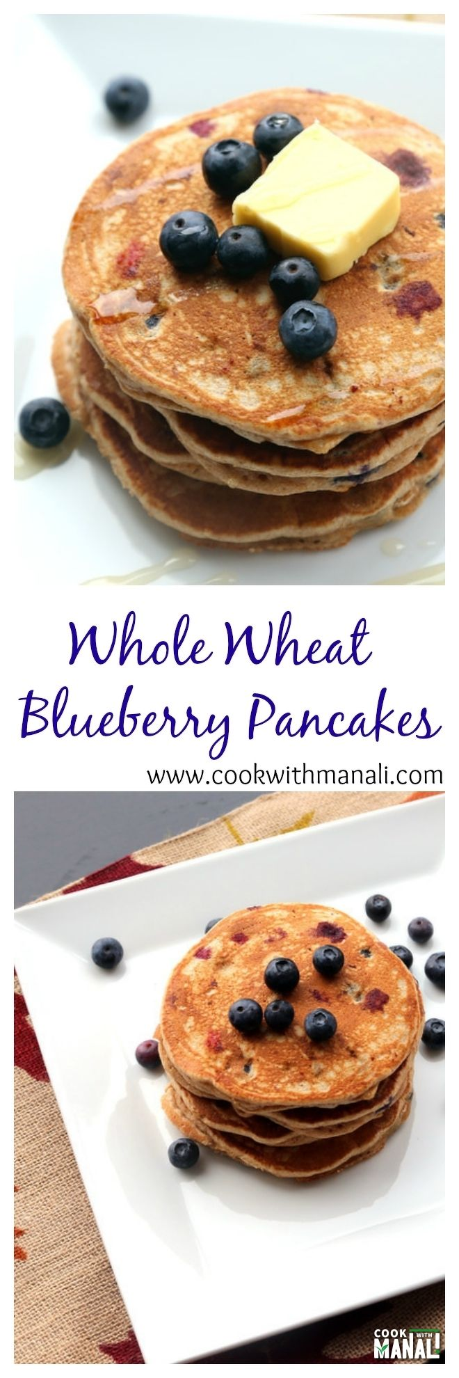 Whole-wheat-blueberry-pancakes-collage