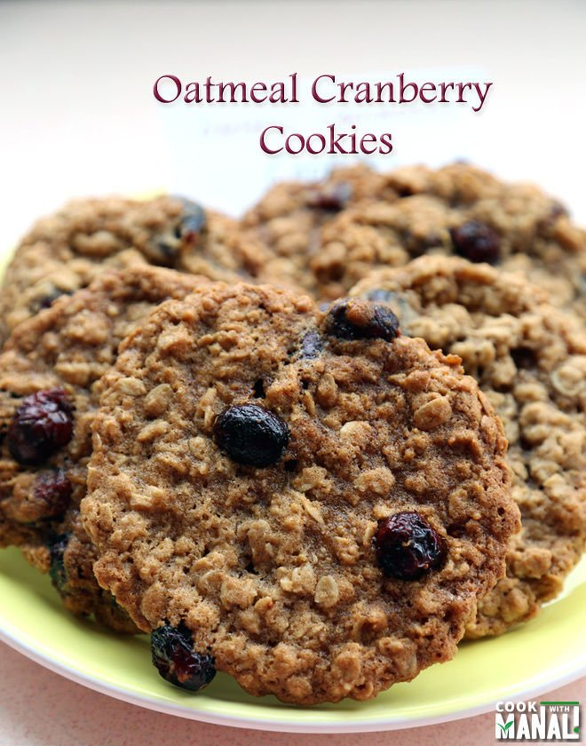 Oatmeal cookie recipe with dried cranberries - Recipes tips