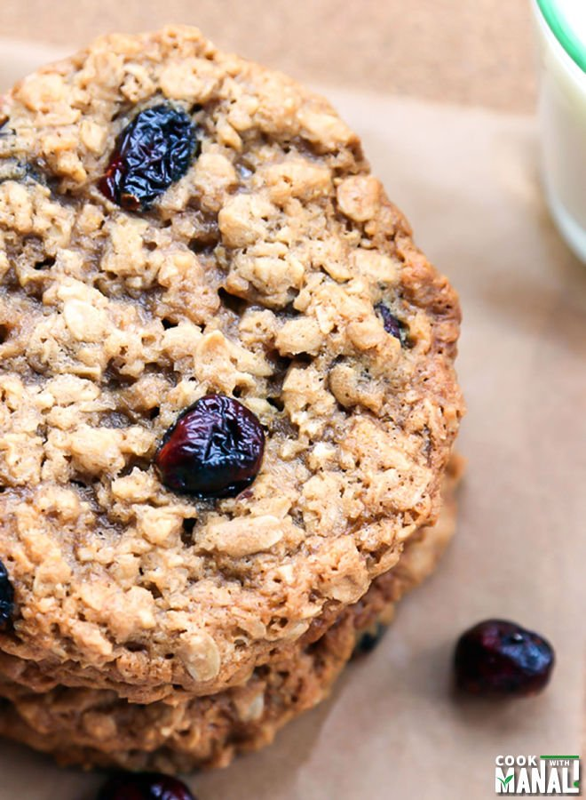 Recipe chewy oatmeal cranberry cookies