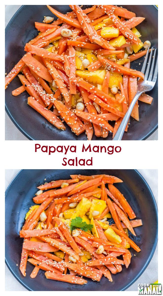 papaya-mango-salad-collage