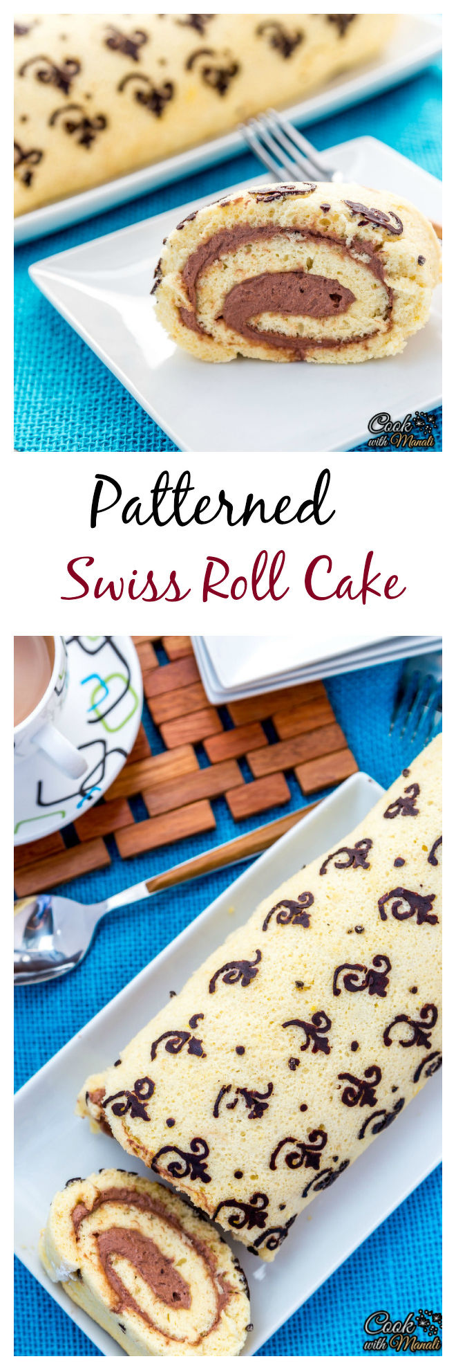 Patterned Swiss Roll Cake Collage-nocwm