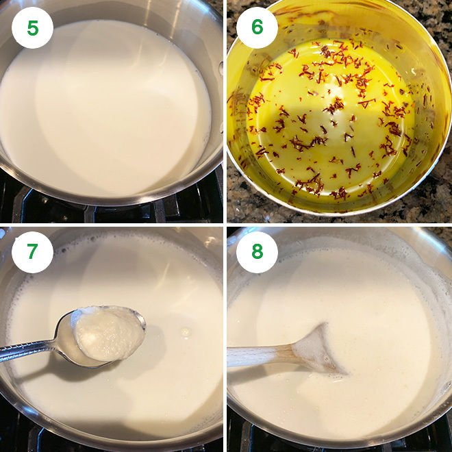 step by step picture collage of making badam milk
