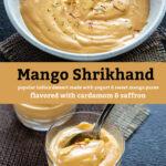 pinterest graphic for Mango Shrikhand