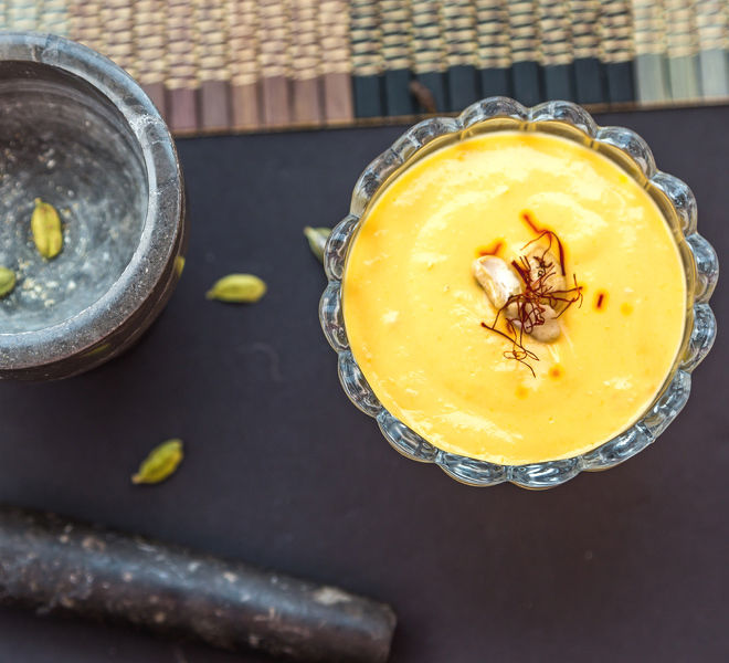 Instant Mango Shrikhand - Mango Greek Yogurt Pudding ...