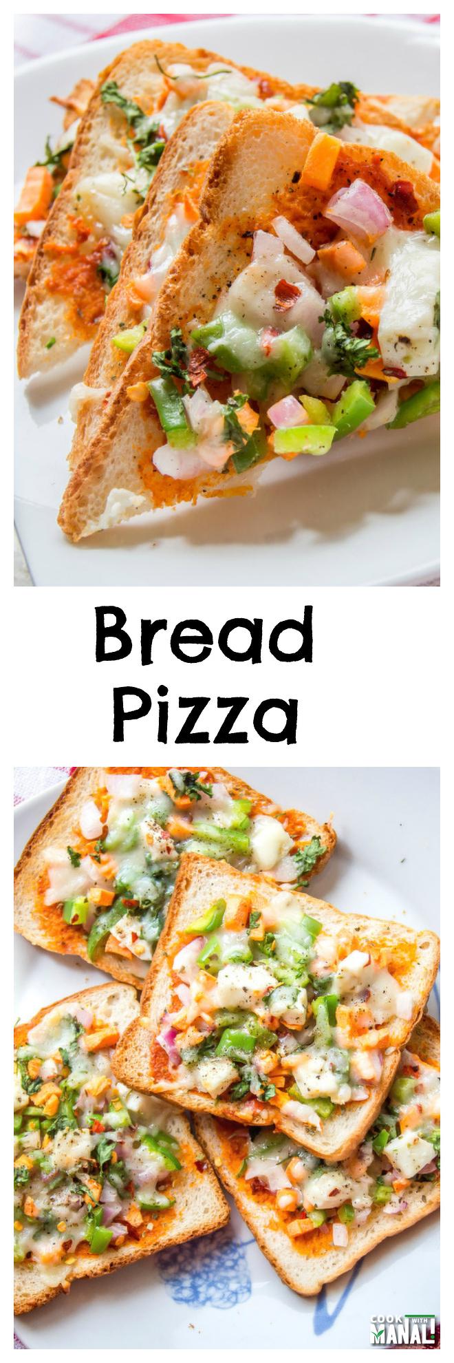 Bread Pizza Collage