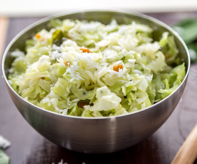 Cabbage Poriyal Cabbage With Coconut Cook With Manali