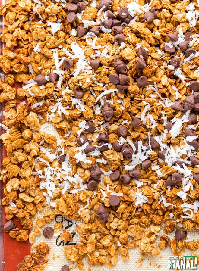 Chocolate Chip Coconut PB Granola