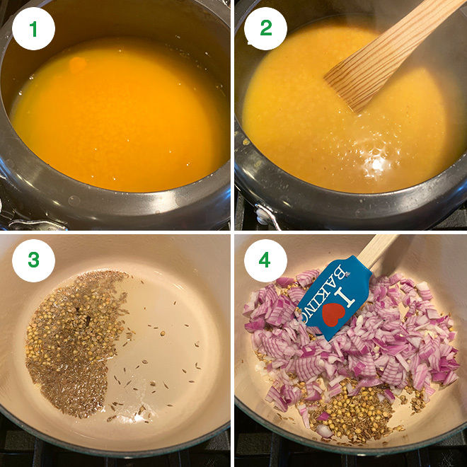 step by step pictures of making dal tadka
