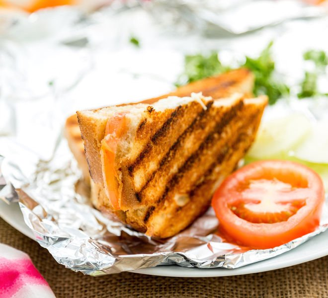 Indian Grilled Cheese Sandwich
