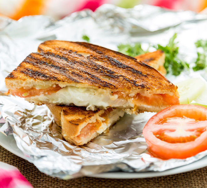 Veggie Grilled Cheese Sandwich - Cook With Manali