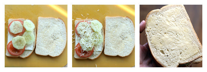 Onion Tomato Grilled Cheese Sandwich Recipe-Step-2