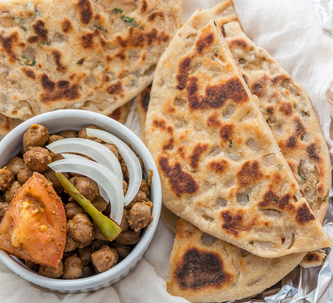 Whole Wheat Onion Kulcha