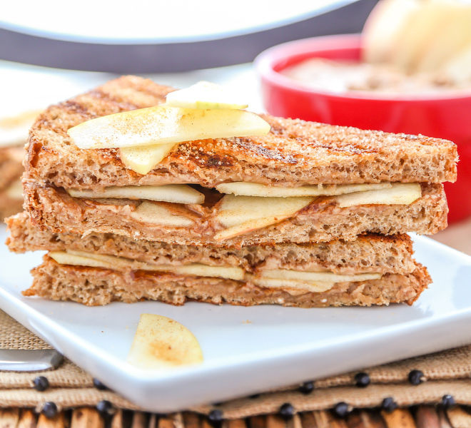 Apple Peanut Butter Grilled Sandwich