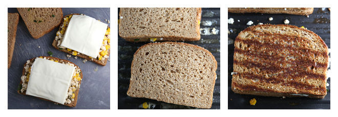 Grilled Cheese Panner Corn Sandwich Recipe-Step-3