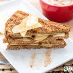 Grilled Peanut Butter Apple Breakfast Sandwich