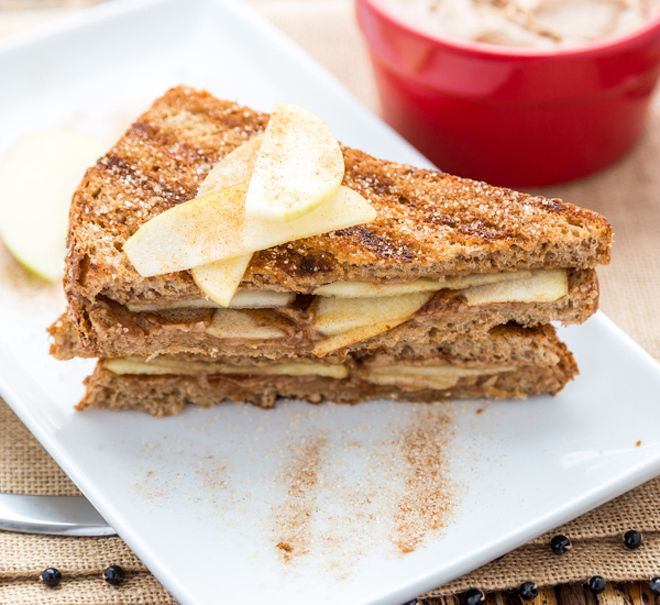 Grilled Peanut Butter Apple Breakfast Sandwich