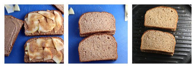 Grilled Peanut Butter Apple Sandwich-Recipe-Step-2