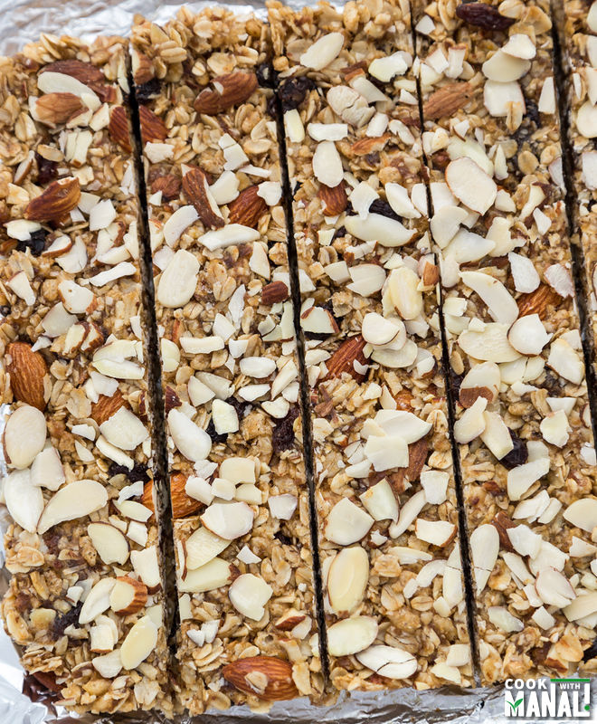 Homemade Almond Raisin Granola Bar