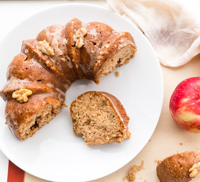 Maple Glaze Apple Bundt Cake Recipe