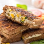 Paneer Grilled Cheese Sandwich With Sweet Corn
