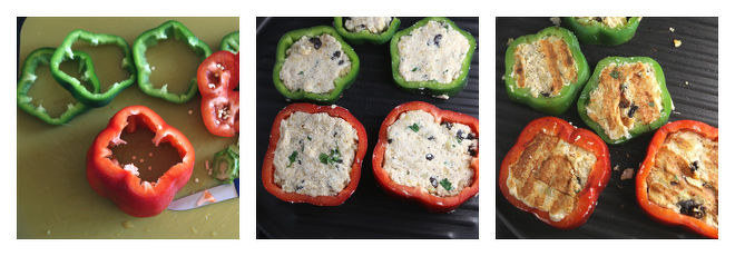Potato & Paneer Stuffed Pepper In Tomato Curry-Recipe-Step-2