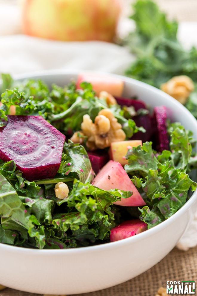 Roasted Beets Kale Salad