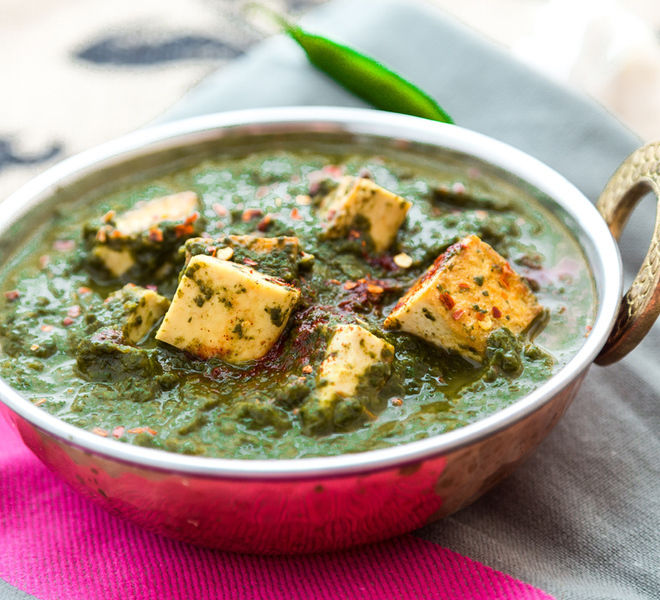 Spiced Tofu With Wilted Spinach And Yogurt Recipes — Dishmaps
