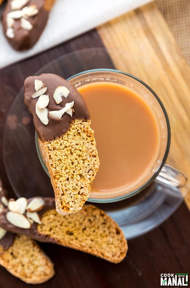Pumpkin Biscotti - Cook With Manali