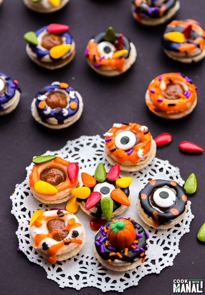 Halloween Donut French Macarons