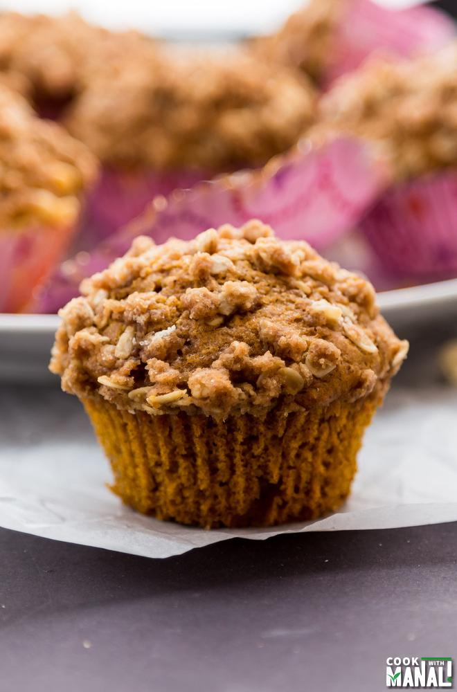 Moist Pumpkin Streusel Muffins