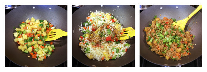 Pineapple Fried Rice-Recipe-Step-2
