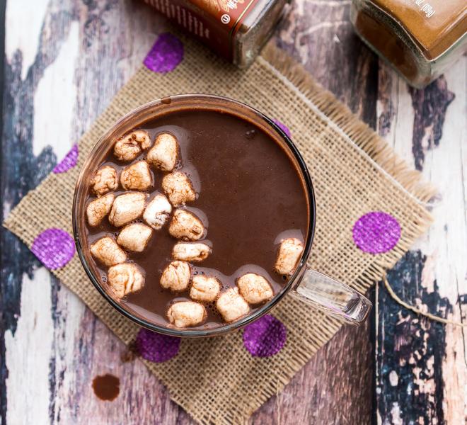Pumpkin Pie Spice Dark Hot Chocolate