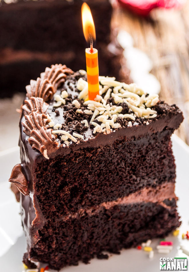 Triple Layer Chocolate Cake With Chocolate Cream Cheese