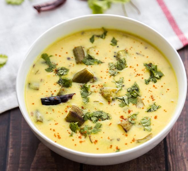 Bhindi Kadhi Recipe