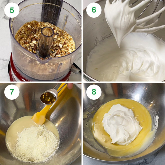 step by step picture collage of making butterscotch ice cream