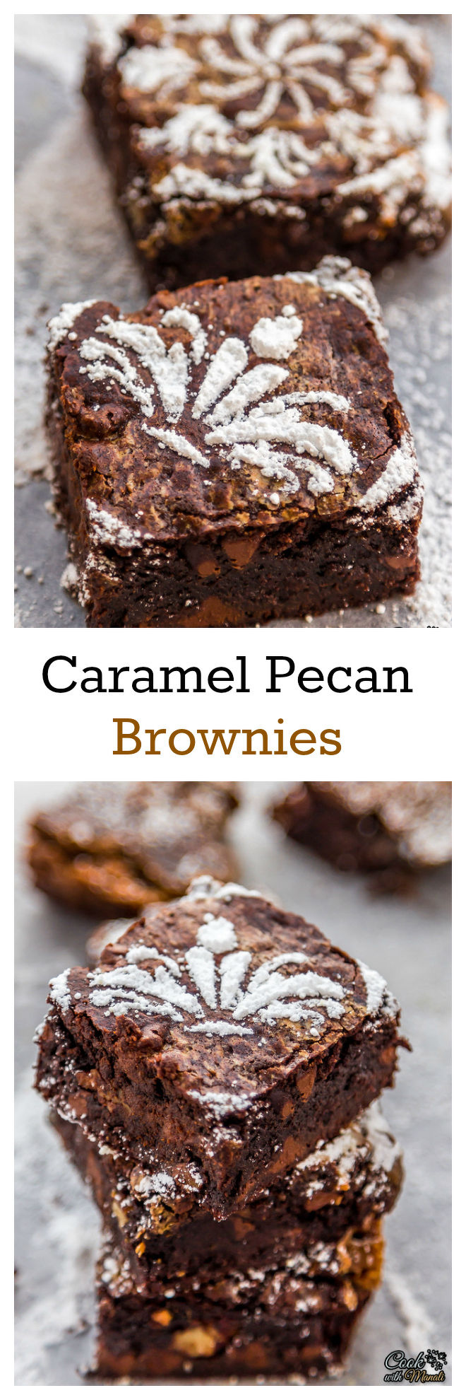 Caramel Pecan Brownies - Cook With Manali