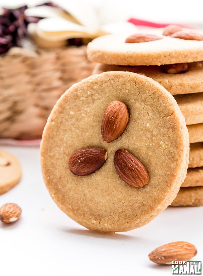 Eggless Almond Cookies Recipe