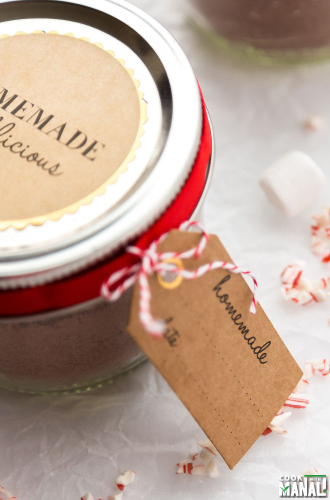 Homemade Peppermint Hot Cocoa Mix