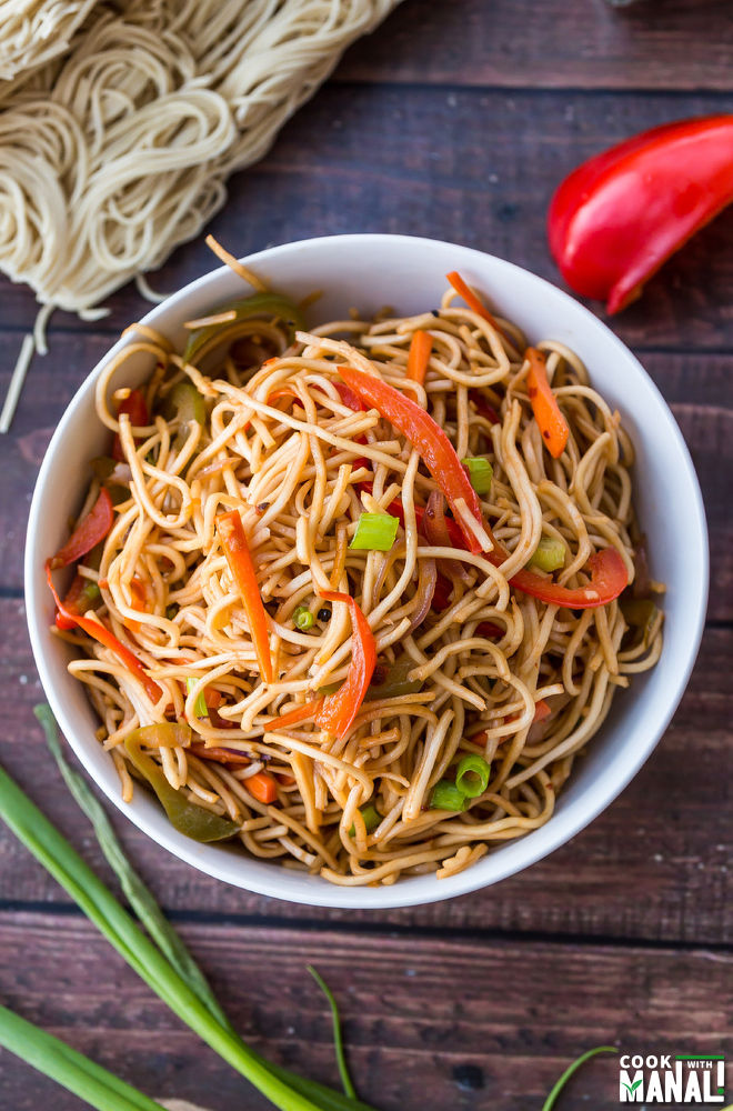 Indian Veg Hakka Noodles
