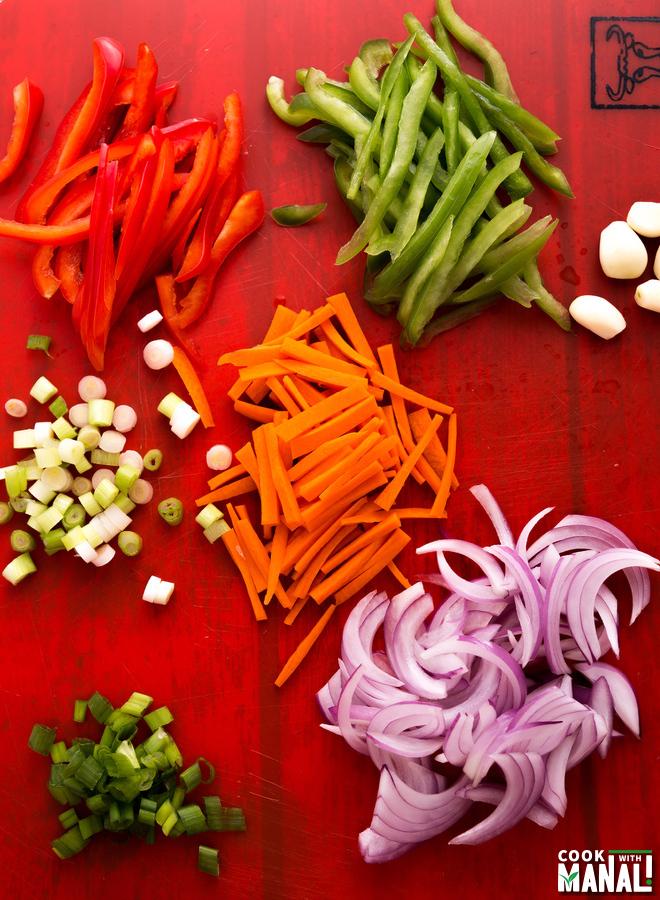 Veg Hakka Noodles Ingredients
