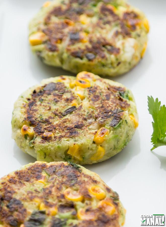 Vegan Zucchini Corn Patties - Cook With Manali