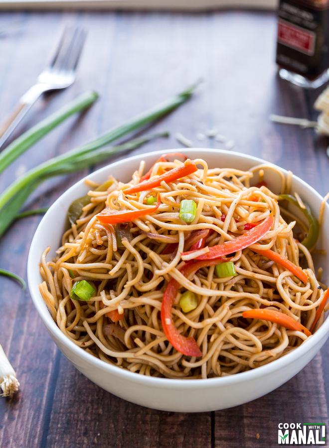 Vegetable Hakka Noodles