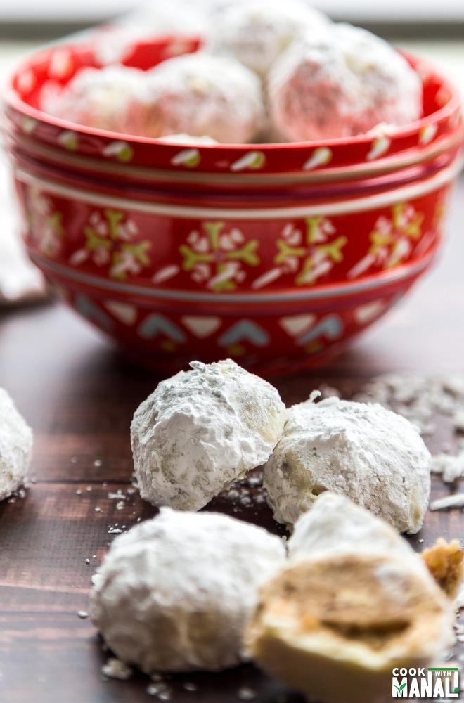 Brown Butter Christmas Snowball Cookies