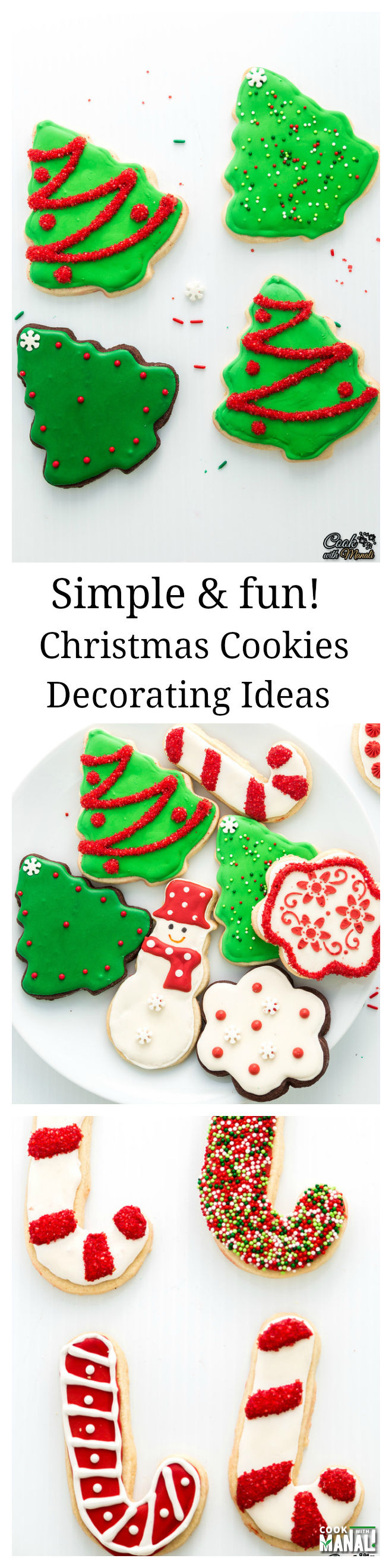 Christmas-Sugar-Cookies-Decorating-Ideas Collage